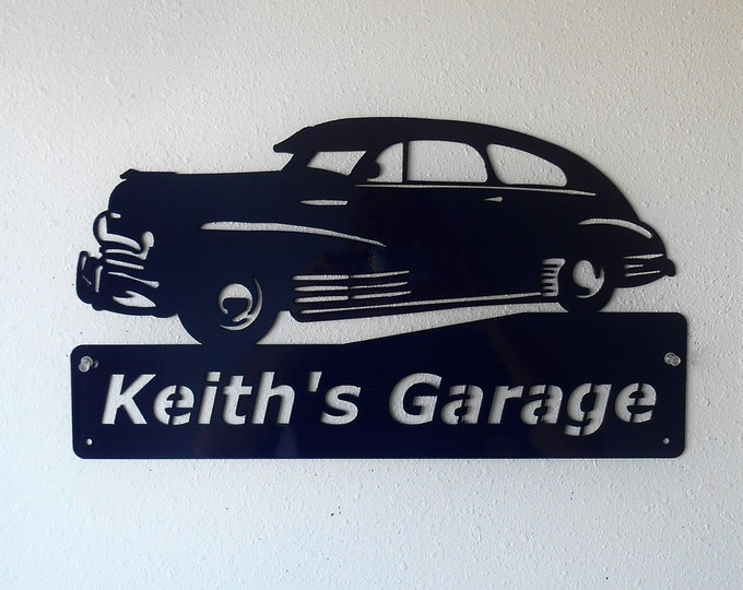 Personalized Man Cave Classic 1948 Chevy  Garage Sign Custom Colors