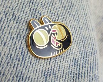 black bear enamel pin