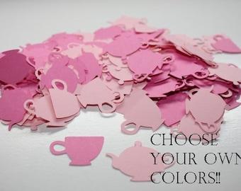 Choose your Colors!! 200 pieces Tea Party Die Cut Table Confetti -