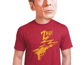 Ray Gun go Zap men's vintage shirt sci-fi gifts gift for trekies star trek t-shirt humor death ray laser beam guys hip shirts xl 3xl 3xl 2x
