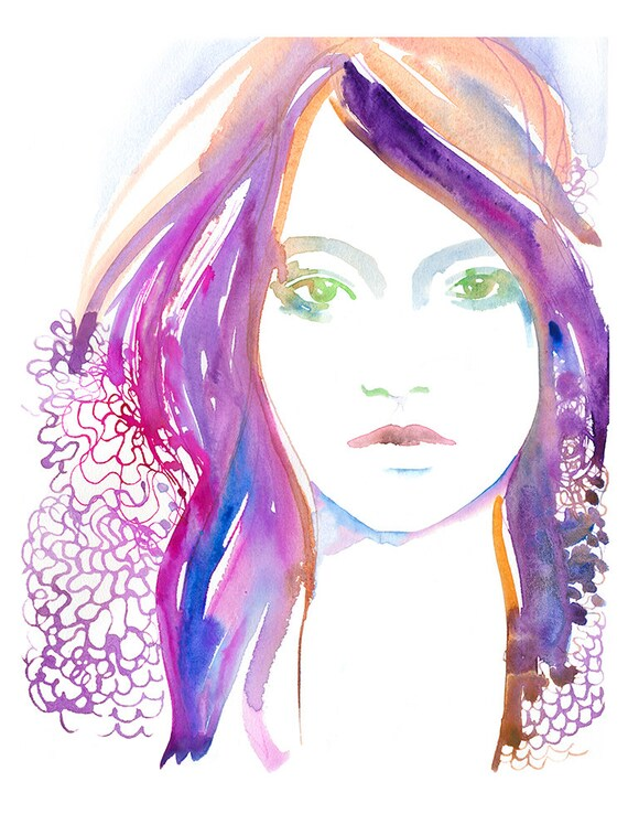 Fashion Illustration, Fashion Watercolour Illustration, Fashion Poster, Fashion Wall Art, Fashion gift, Fashion sketch, Cate Parr