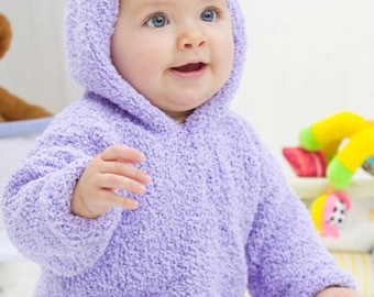 Knitting Pattern Baby Hoodie Instant Download Knitting Pattern  Knitted Baby Sweater Baby Shower Gift
