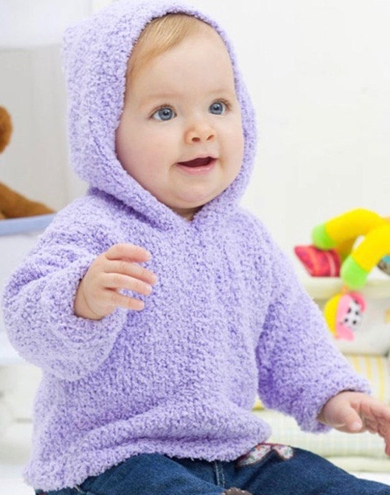 Baby Knitting Pattern Hoodie With Ears : Knitting Pattern Baby Hoodie Instant Download Knitting Pattern