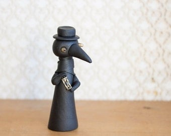 Plague Doctor Figurine by Bonjour Poupette