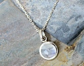 Moonstone Necklace, Natural Stone Necklace, Sterling Silver Necklace, Light Blue Necklace, Gemstone Necklace, Moonstone Jewelry, For Her