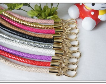 a pair of 13 to 25 inch PU leather handbag handle purse handles bag handles 12 colors  available Handbag Purse Bag Making Hardware Supplies