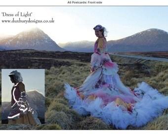 Dress of Light postcard, A5