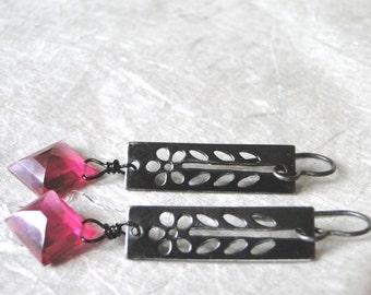 LAST CALL SALE Cherry Vintage Glass Earrings, Art Deco Dangle Earrings, Vintage Glass, Accessories, Earrings, Christmas Gift
