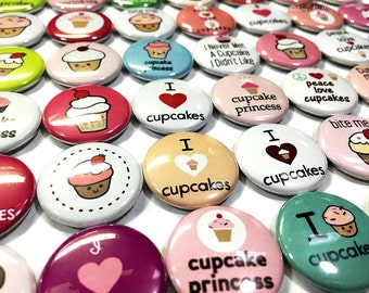 "Cupcake Magnet, 1"" Button Magnet, Cupcake Button, Cupcake Decor, Cupcake Theme, I Love Cupcakes, Cupcake Business, Cupcake Princess, Cupcake"
