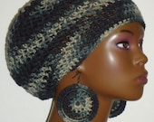 Ready to Ship City Chick Crochet Beret Cap Hat Tam with Earrings by Razonda Lee Razondalee
