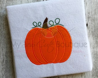 Pumpkin Applique Designs Machine Embroidery Files Downloads - Thanksgiving Applique Designs - 10 Sizes - Instant Download