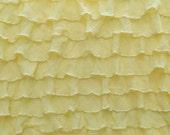 "Destash: 1"" Yellow ruffle fabric"