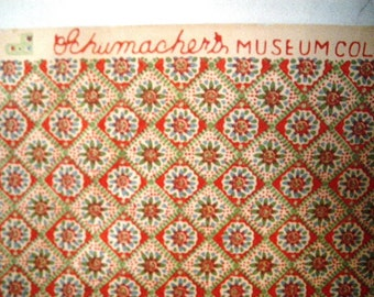 1950s Schumacher Wallpaper Pride's Crossing Museum Collection 2 Rolls