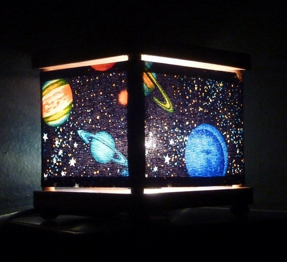 Space night light planet decor nightlights for Decor planet