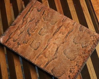 Vintage snakeskin writing case. Tablet case. Laptop case. Vintage journal