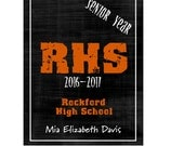 Hardcover Memory Book - High School Senior Year (Class of 2017) Graduation, Senior 2017, Big Brown Chair Books, Personalized Book, Scrapbook