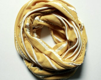 Limited Edition Mustard Ruffle Stripe Jersey Infinity Scarf 4 Other Colors Ladies Accessories Knit Scarf Fall Accessory Spring Accessory