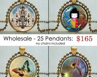 Choose Any 25 Art Pendants | Bargain Sale Art Pendant Necklaces | Art Pendants | Necklaces on Sale | Bargain Jewelry |  Wholesale Buyers