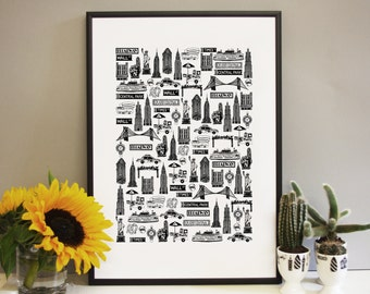 New York Print - New York Art - Gift for New Yorkers -  New York Wedding Gift - Gift for couples