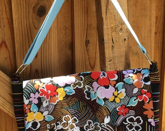 Flowers & Stripes Messenger Bag