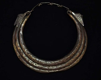 Three Bar Torque Necklace, Yao - Hmong People