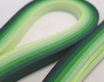 Dewy Green - Gradient Extra Long Origami Lucky Star Paper Strips or Quilling (55cm) - bundle of 120 strips