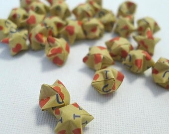 60 I Love You - Kraft Origami Lucky Stars