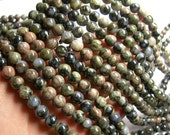 Rhyodacite - 8 mm round beads - full strand - 50 beads - A quality - RFG522