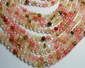 Fire Cherry quartz - 6 mm round bead - full strand - 63 bead - RFG839