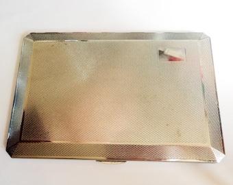 Vintage Silver Cigarette Case... Chromium Plate