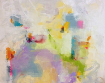 Large Abstract Expressionist Original Painting- Dreamland 36 x 36
