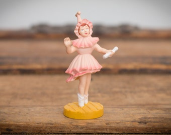 Wizard of Oz Lullaby League Munchkin Toy Figure, Ballerina, Vintage 80s
