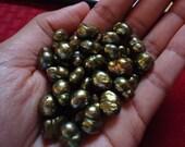 Army Green Pearls, Baroque Pearl, June Birthstone, Freshwater Pearl, Qty 60