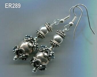 Sterling Silver Bali Earrings, Five Styles, ER286.ER287.ER288.ER289.ER333