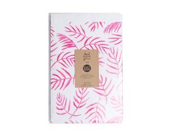 Leah Goren Pink Fern / Newsprint Giftwrap / 3 Sheets