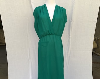 Vintage Green Sheer Party Dress