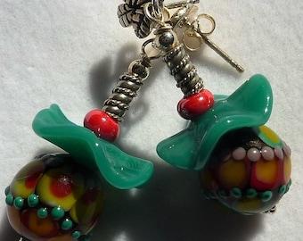Lampwork Earrings PSYCHEDELLI