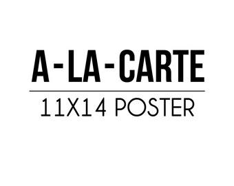 A-LA-CARTE - Party Poster - Petite Party Studio