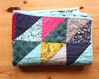 Triangle Patchwork Baby Quilt