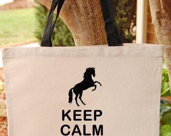 Horse Tote Bag Girls Canvas Tote Bag Horse Bag