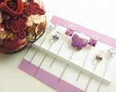 Sewing Pins Purple Butterflies with Crystal and Gems