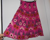 HEAVILY EBROiDERED MiRRORED SKIRT  about knee lenth made in INDiA Vintage BoHo xs to small size