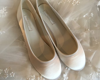 Simple Ballet Flat   Wedding Shoes   Wedding Ballet Shoe   Wedding Flats    Ivory Ballet