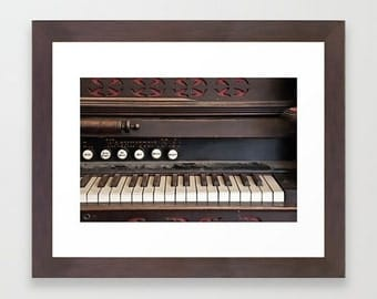 Wall Decor Photograph Dusty Antique Vintage Piano