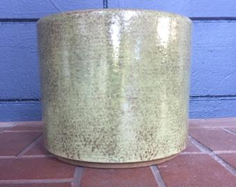 Vintage Green Gainey Ceramic Planter