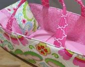Doll Carrier,  Pink Modern Print