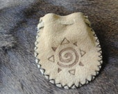 Buffalo Leather Medicine Pouch