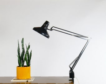 Vintage Luxo Duel Color Correct Industrial Architect Swing Arm Task Lamp