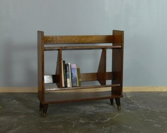 Vintage Mid Century Modern Bookshelf // Bookcase