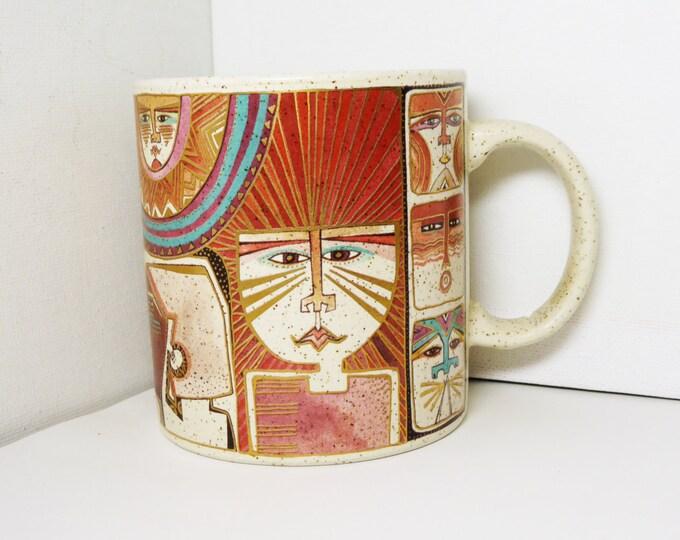 Laurel Burch Mug - Primordial Dream - Coffee Cup - Vintage Designer Pop Art - Mod Art 1990 - Laurel Burch Design Studio